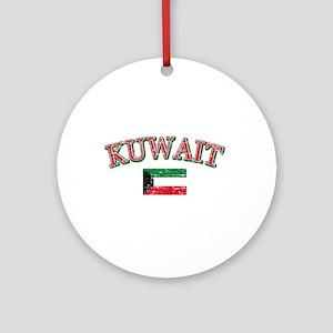 Kuwait Flag Designs Ornament (Round)