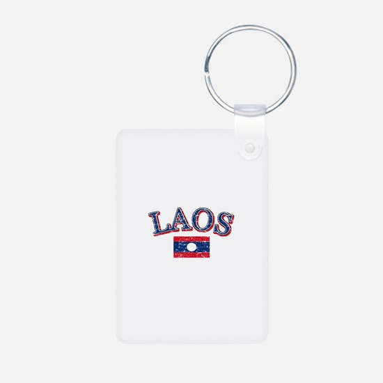 Laos Flag Designs Keychains