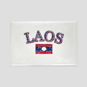 Laos Flag Designs Rectangle Magnet