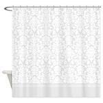 Grey Damask Shower Curtain