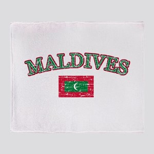 Maldives Flag Designs Throw Blanket