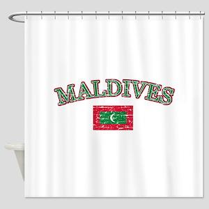 Maldives Flag Designs Shower Curtain