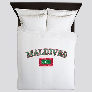 Maldives Flag Designs Queen Duvet