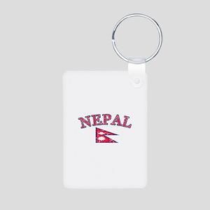 Nepal Flag Designs Aluminum Photo Keychain