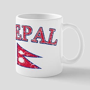 Nepal Flag Designs Mug