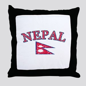 Nepal Flag Designs Throw Pillow