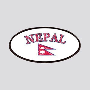 Nepal Flag Designs Patches
