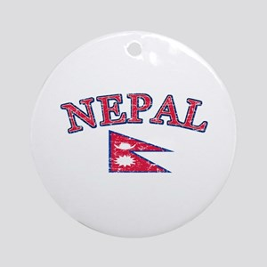 Nepal Flag Designs Ornament (Round)