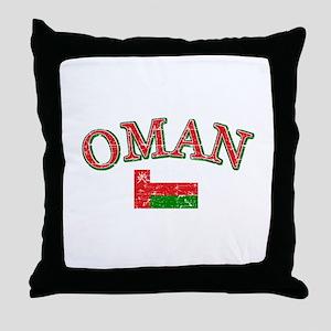 Oman Flag Designs Throw Pillow