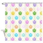 Colorful Damask Shower Curtain