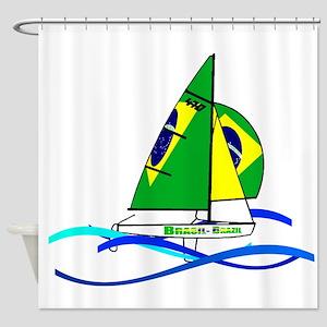 Brazil 470 Class Sailing Shower Curtain