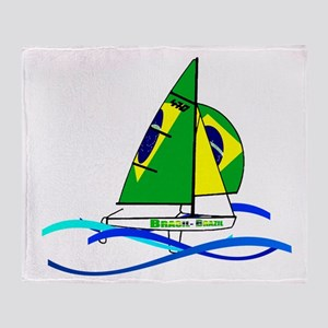 Brazil 470 Class Sailing Throw Blanket