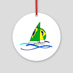 Brazil 470 Class Sailing Ornament (Round)