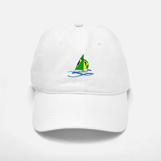 Brazil 470 Class Sailing Baseball Baseball Cap
