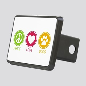 Peace - Love - Dogs 1 Rectangular Hitch Cover