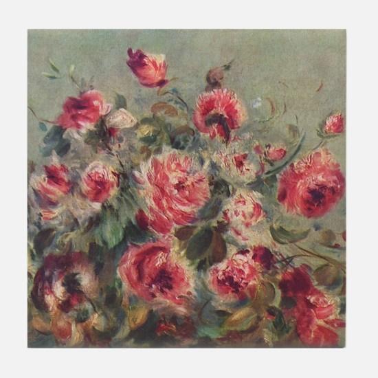 Pierre-Auguste Renoir Roses Tile Coaster