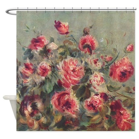 Pierre-Auguste Renoir Roses Shower Curtain
