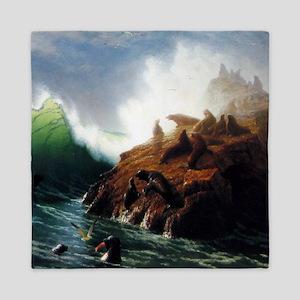 Bierstadt Seal Rock Queen Duvet