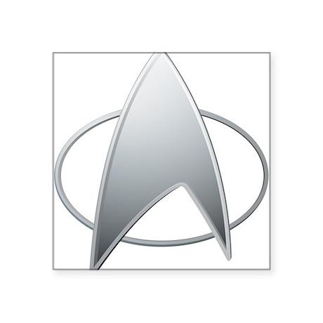 """STAR TREK TNG Square Sticker 3"""" x 3"""""""