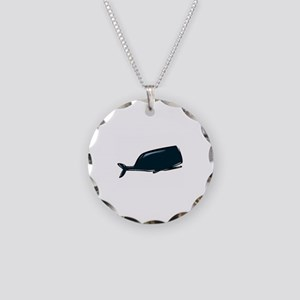 Whale Necklace Circle Charm