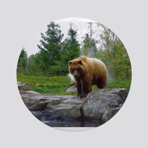 Grizzly Ornament (Round)
