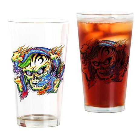 skull1 Drinking Glass