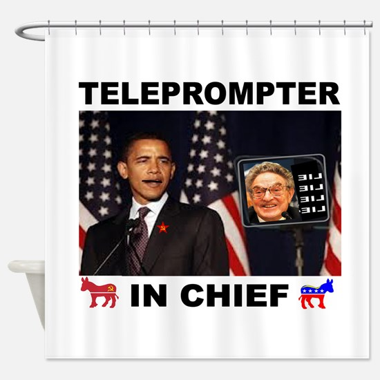 TELEPROMPTER Shower Curtain