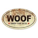 Woof! Australian Cattle Dog Oval Sticker