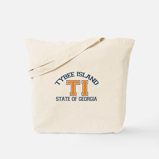 Tybee Island GA -Varsity Design. Tote Bag