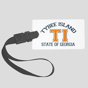 Tybee Island GA -Varsity Design. Large Luggage Tag