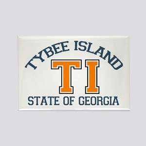 Tybee Island GA -Varsity Design. Rectangle Magnet