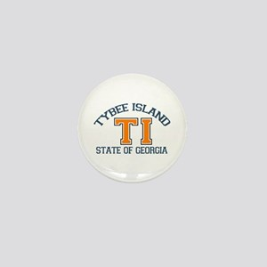 Tybee Island GA -Varsity Design. Mini Button