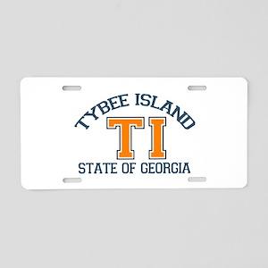 Tybee Island GA -Varsity Design. Aluminum License