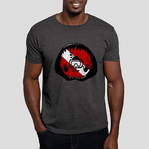 iDive Scuba Shark Jaw Dark T-Shirt