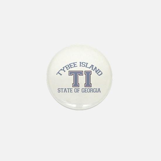 Tybee Island GA -Varsity Design. Mini Button