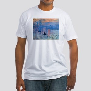 Claude Monet Impression Sunrise Fitted T-Shirt