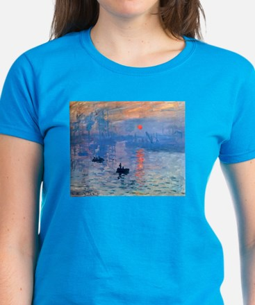 Claude Monet Impression Sunrise Women's Dark T-Shi