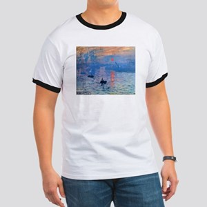 Claude Monet Impression Sunrise Ringer T
