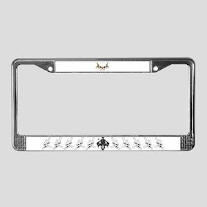 Skull wings License Plate Frame