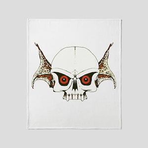 Skull wings Throw Blanket