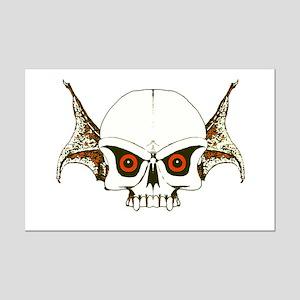 Skull wings Mini Poster Print