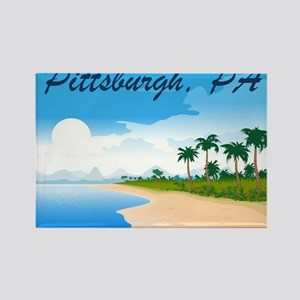 Pittsburgh Beach Scene Rectangle Magnet
