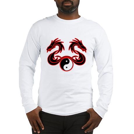 Yin Yang Twin Dragon Long Sleeve T-Shirt