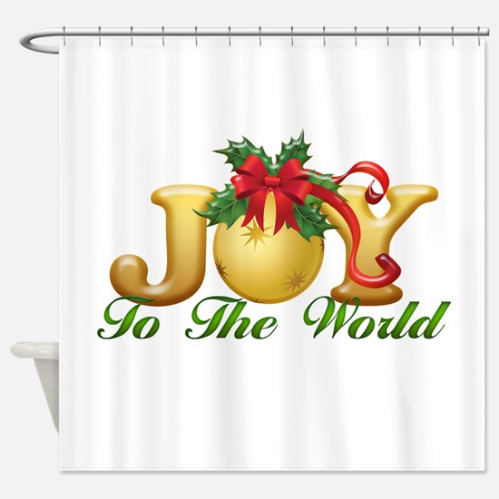 2-Joy to the World.png Shower Curtain