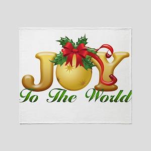 2-Joy to the World Throw Blanket