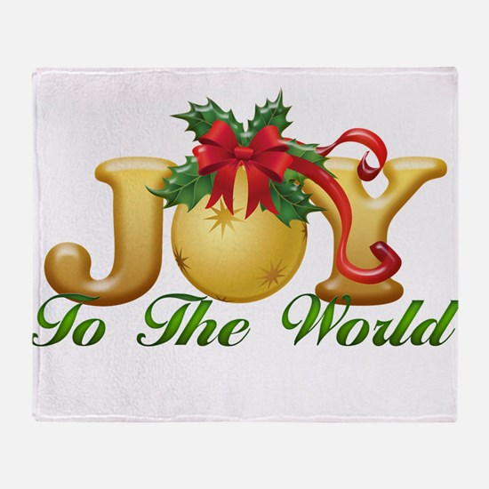 2-Joy to the World.png Throw Blanket
