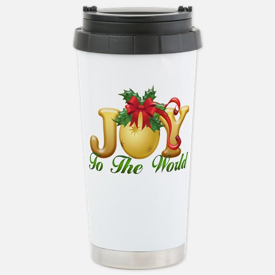 2-Joy to the World.png Stainless Steel Travel Mug