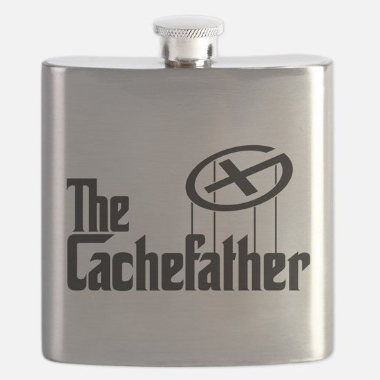 Geocaching THE CACHEFATHER black Flask