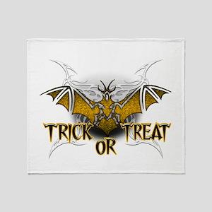 Trick or Treat Bat Throw Blanket
