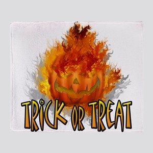 Trick or Treat Pumpkin Throw Blanket